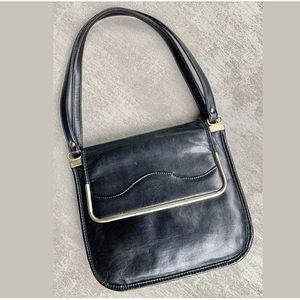 Handbags - VTG 60's Accordion-style Leather Hobo/Shoulder Bag